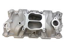 SB Chevy Aluminum Intake Manifold Spread Bore Idle-5500 SBC 55-86 305 327 350 V8