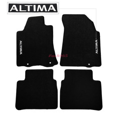 Fits 13-16 Nissan Altima Black Nylon Floor Mats Carpets w/ Altima Embroidery