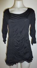 Womens ladies tunic top long black top casual tunic size 10 12 14 16 18 20 New