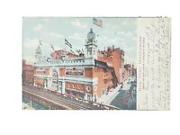 1907 Vintage Post Card: New York Hippodrome with Flushing NY and NYC Postmarks