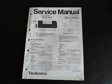 Original SERVICE MANUAL Technics sound processor sh-ch950