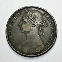 1891 Great Britain Penny, Queen Victoria, KM# 755, Very Nice!