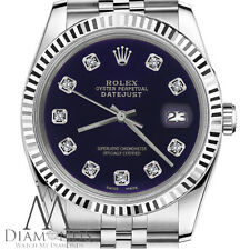 Women's Rolex 31mm Datejust Purple Diamond Accent Dial Stainless Steel Watch