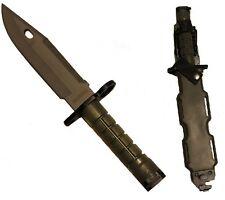 OD Olive Drab Green M9 Military Blade Bayonet Knife & Tactical Sheath Scabbard