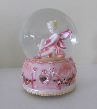 Divine Large Pink Ballerina Fairy Musical Snowglobe Glitter Hearts Water Ball