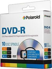 Polaroid DVD-R 1.4GB 30-Min 4x 8cm Mini DVD Disc for Camcorders, 10 PCS Spindle