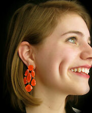 KATE SPADE TANGERINE RIDICULOUSLY GORGEOUS FLO CORAL CHANDELIER DROP EARRINGS