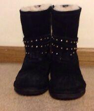 Women's UGG Clovis Black  Studded Boots  RARE!  Size 5