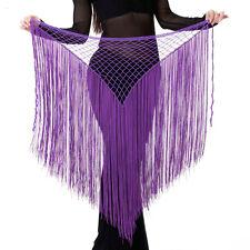 Belly Dance Costume Tribal Tassel hip scarf wrap belt Skirt Fringes 13 colors