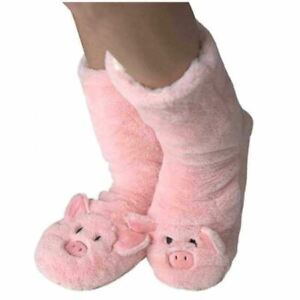 Oooh Yeah Le Pig Women's Sherpa Slippers