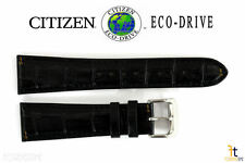 Citizen Eco-Drive CB0010-02E 23mm Black Leather Watch Band S067405 S073294