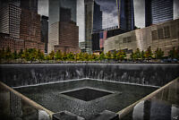 North Tower Memorial by Chris Lord Photo Art Print Poster 12x18 inch