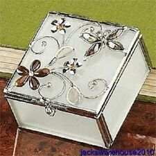 New Butterfly Amber Crystal Jewelry Box Container
