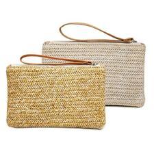 Straw Square Hand Woven Women Clutch Bag Purse Bags Summer Beach Weave Handbag