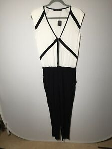 Sportsgirl NEW WITH TAGS womens black and white sleeveless jumpsuit size 6