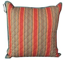 "CHAPS Home ANNABELLE Pillow Size: 20x 20"" New SHIP FREE Striped Decorative Throw"