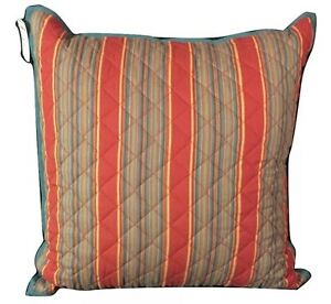 """CHAPS Home PILLOW Size: 20x 20"""" New SHIP FREE Striped Throw ANNABELLE Bedding"""