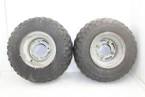 2000 Kawasaki Bayou 220 Rear Wheel Set Rims Tires