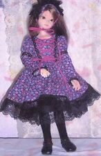 "Pattern 16""  MSD Ball joint fashion doll Dress over the knee sockings headband"