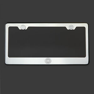 Mirror Chrome Fiat Logo Laser Etched T304 Stainless Steel License Plate Frame