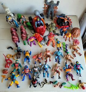 Vintage He Man Masters of the Universe Figures Lot, vehicles and cat
