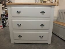 HAMPSHIRE PAINTED 3 DRAWER JUMPER CHEST /SOLID PINE - SOLID OAK - F&B AMMONITE