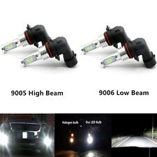 4x 9005 9006 CREE LED High Low Beam Headlights Bulb Kit Super Bright 6000K White