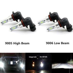 4x 9005 9006 CREE LED High Low Beam Headlights Bulb Kit Super Bright 6000K White
