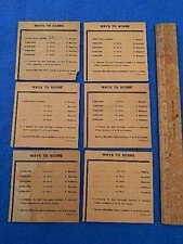 1949 Williams St. Louis Award Cards - original - 6 different cards