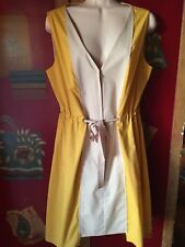 T Tahari, beige yellow  Dress Size 12P