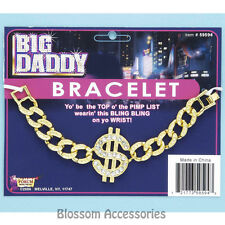 A403 Mens Big Daddy Bracelet Dollar Bling Fancy Pimp Daddy Costume Accessories