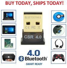 USB Bluetooth V4.0 CSR Wireless Mini Dongle Adapter For Win7 8 10 PC MAC Laptop
