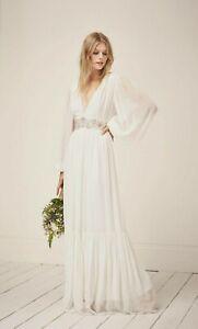 French Connection Cari Sparkle Maxi Wedding Dress size 8