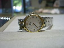 Authentic OMEGA Deville Two Tone White Dial Women's Watch PRE OWNED WOW