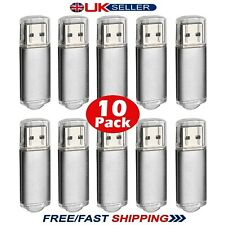 10 Paquete a granel 1/2/4/8/16/32GB USB 2.0 Memory Stick Flash Pen Drive-Plata