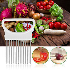 Tomato Vegetable Onion Slicer Guide Holder Slicing Cutter Pin Stainless Steel