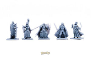 Minis3D Rep - Heroquest Custom Heroes 2 - Crusader, Ruffian, High Elf, Knight,