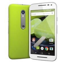 Brand New Motorola Moto G 3rd Gen XT1541 8GB White Lime Green 4G-LTE Smartphone