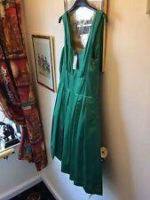 New Jasmine Guinness Green Silky  Retro Vintage Look Party Dress,12