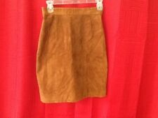 Tango Brown Leather Skirt  Size 7/8