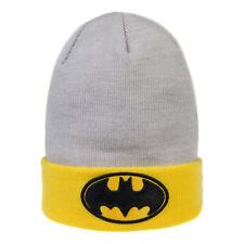 DC Comics - Batman - Grey/Yellow Beanie Hat - Knitted Headwear - Superhero Gifts