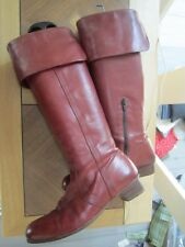 Bohème Chic ! Bottes Hand Made NATHALIE VERLINDEN Cuir Old Red - 38 (650€) **TBE