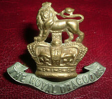 CAP BADGES-ORIGINAL VICTORIAN/QVC 1st ROYAL ROYAL DRAGOONS NICE BADGE