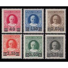 """Vatikan Nr. 39-44 postfrisch ** """"Freimarken mit Aufdruck 1934"""""""