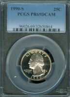 1969 S  PCGS PR69 Clad Washington Quarter Proof Shipping $$ on first coin only