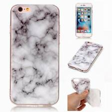 Glossy Soft Back Granite Marble Effect Case Cover For Apple iPhone 5 6 6S 7 Plus