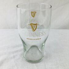 Guinness Beer Pub Embossed 20oz Gravity Drinking Glass Golden Harp Brewer Dublin