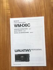 Manuale cartaceo ORIGINALE SONY WM-D6C ! INGLESE FRANCESE SPAGNOLO