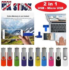 2 in 1 OTG USB2.0 Memory Stick Flash Thumb Pen Drive 32gb - 512gb Android/PC/MAC