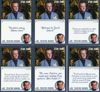 Star Trek Archives & Inscriptions card #22 Dr Tristan Adams all 16 different Var